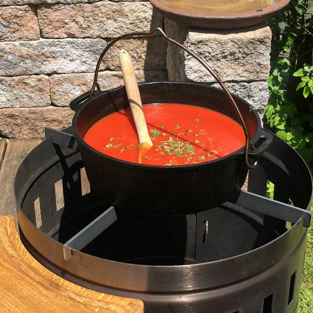 Suppe aus dem Dutch Oven
