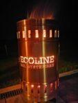 Feuertonne mit ECOLINE Logo