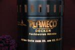 Feuertonne mit Plameco Logo