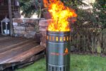 Brennende Feuertonne