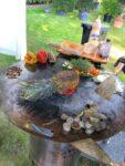 Ananas auf der Feuerplatte