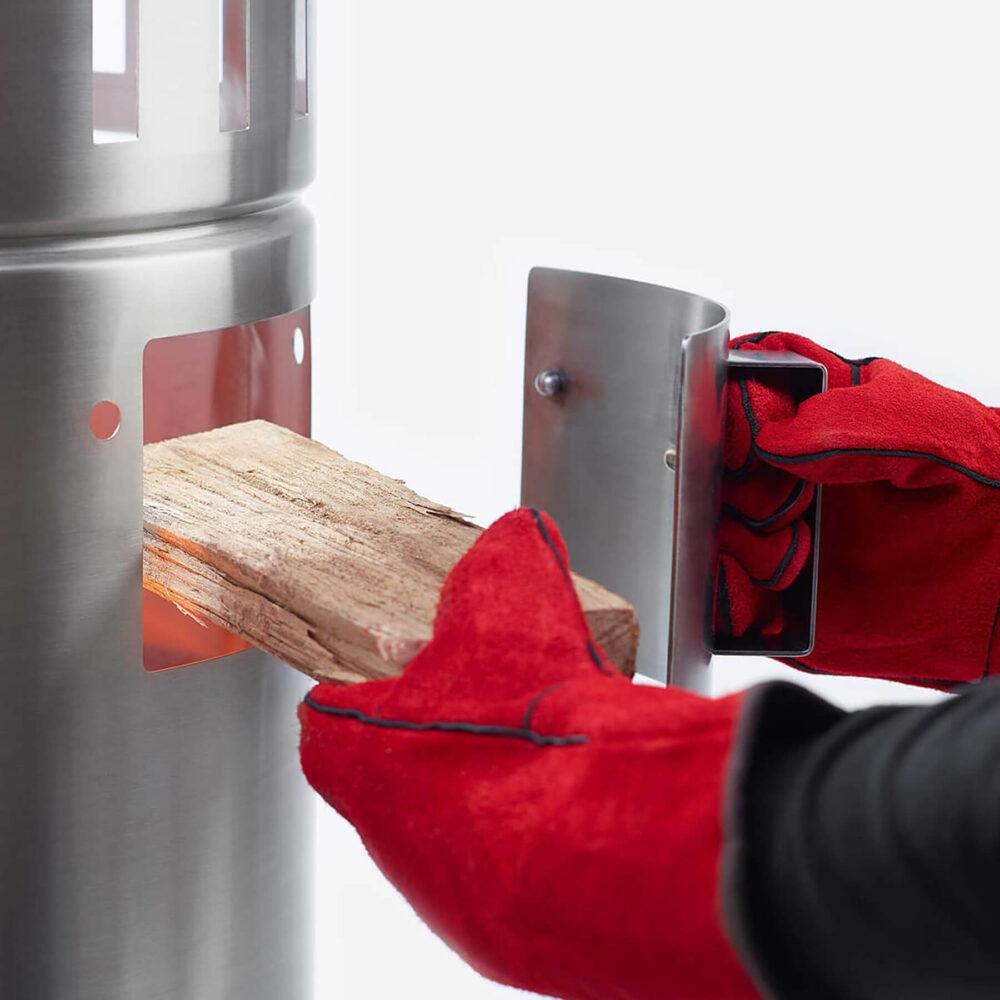 Ofenklappe zum Holz nachlegen